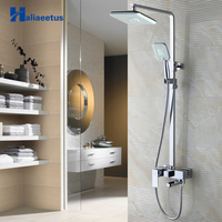 Haliaeetus Bathroom 3 Function Shower Faucet.Chrome Bathroom Shower Set Faucet with 8 Showerhead Rain ShowerHead.Hot Mixer Tap