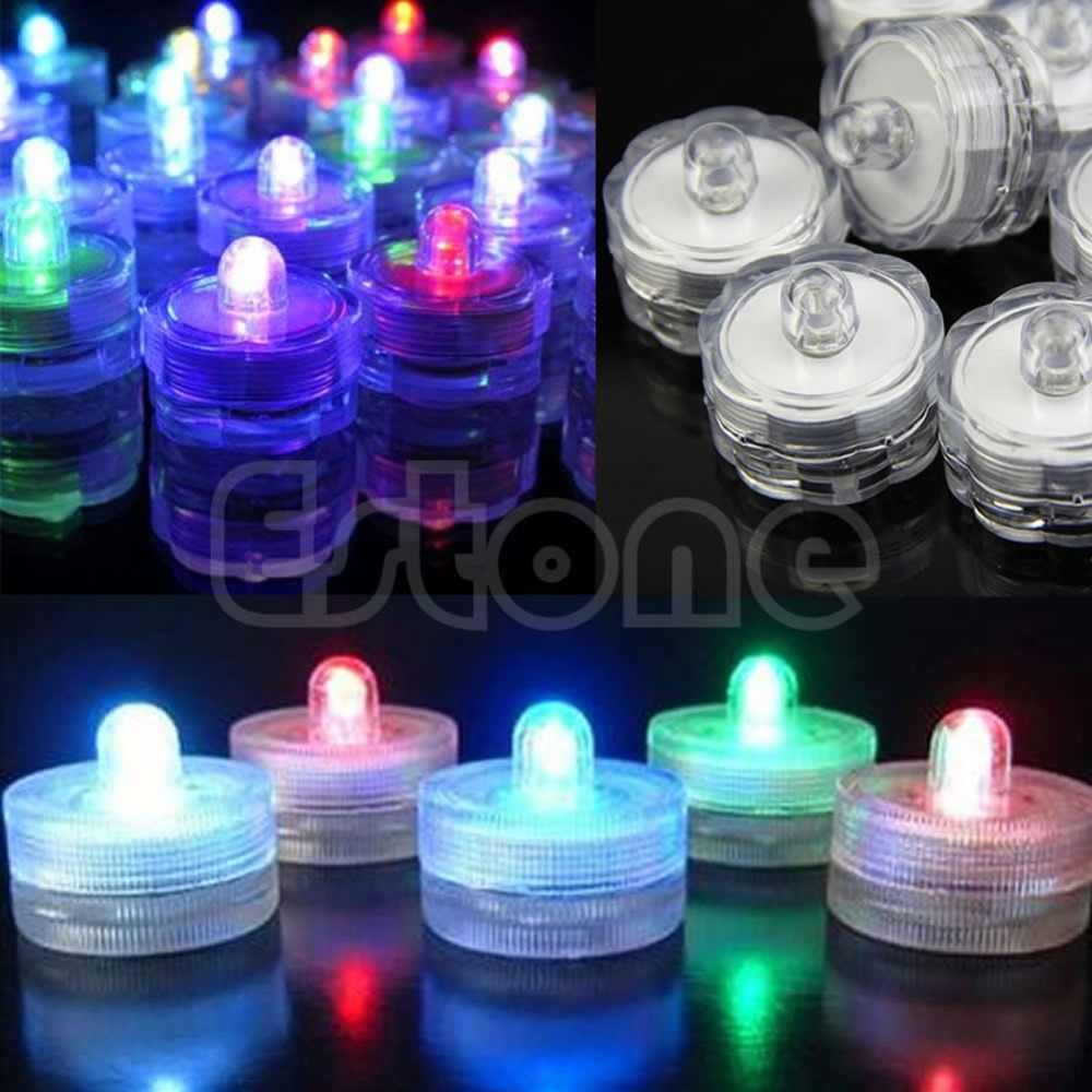 1pc Led Submersible Waterproof Wedding Decoration Party Flameless Tea Light