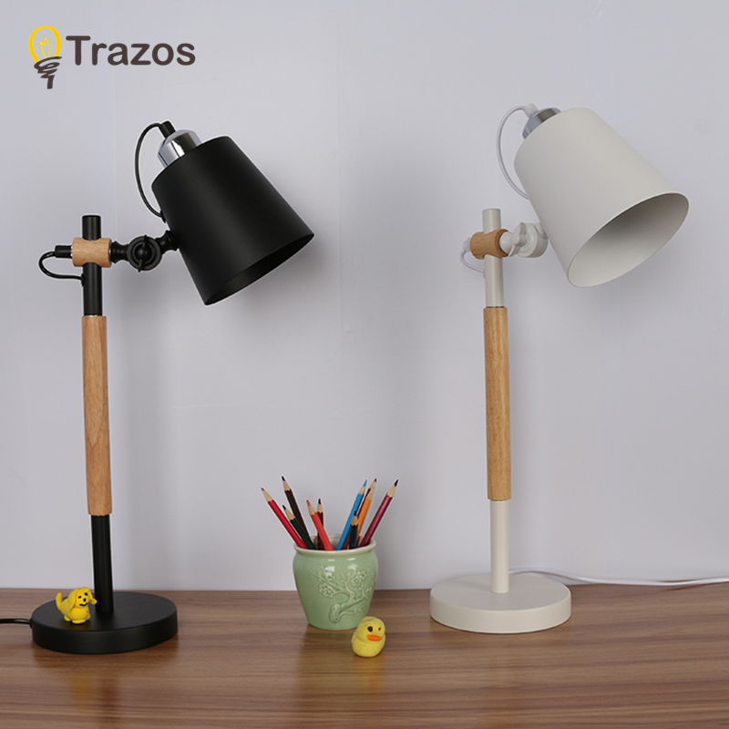 modern art decoration desk lamp e27 holder solid wooden table lamps for decorate nature style eu plug ac85 265v desk night light Modern Table Lamp Wooden Base Book Lights Desk Night Light E27 Holder Mini Retro Bedside Lamp La Lamparas For Home Bedroom Deco