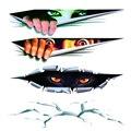 Cool 3D Стайлинга Автомобилей Забавный Кот Глаза Выглядывал Автомобиля Стикер водонепроницаемый Peeking Монстр Авто Аксессуары Все Тело для Всех автомобили
