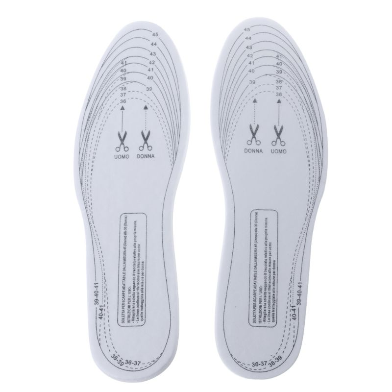 2019 Sponge White 3 Layers Thicken Breathable Elastic Pad Adjustable Size Insole With Soft Fashion New Unisex Men Women Size