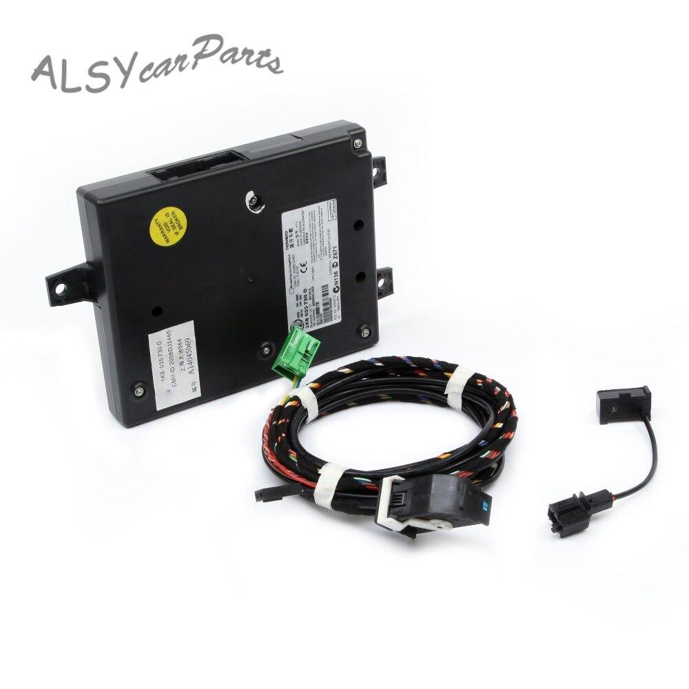 YIMIAOMO OEM 1K8 035 730D 9W2 Module Bluetooth + faisceau de prise directe + Mircophone pour VW Golf Jetta MK5 6 Passat B6 7 RNS510 RCD510