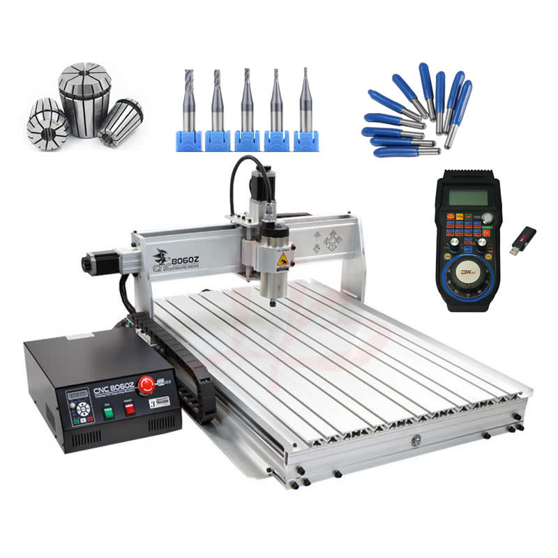 CNC 8060 1500W CNC Router Engraving Machine Desktop Aluminum wood carving mac3 system