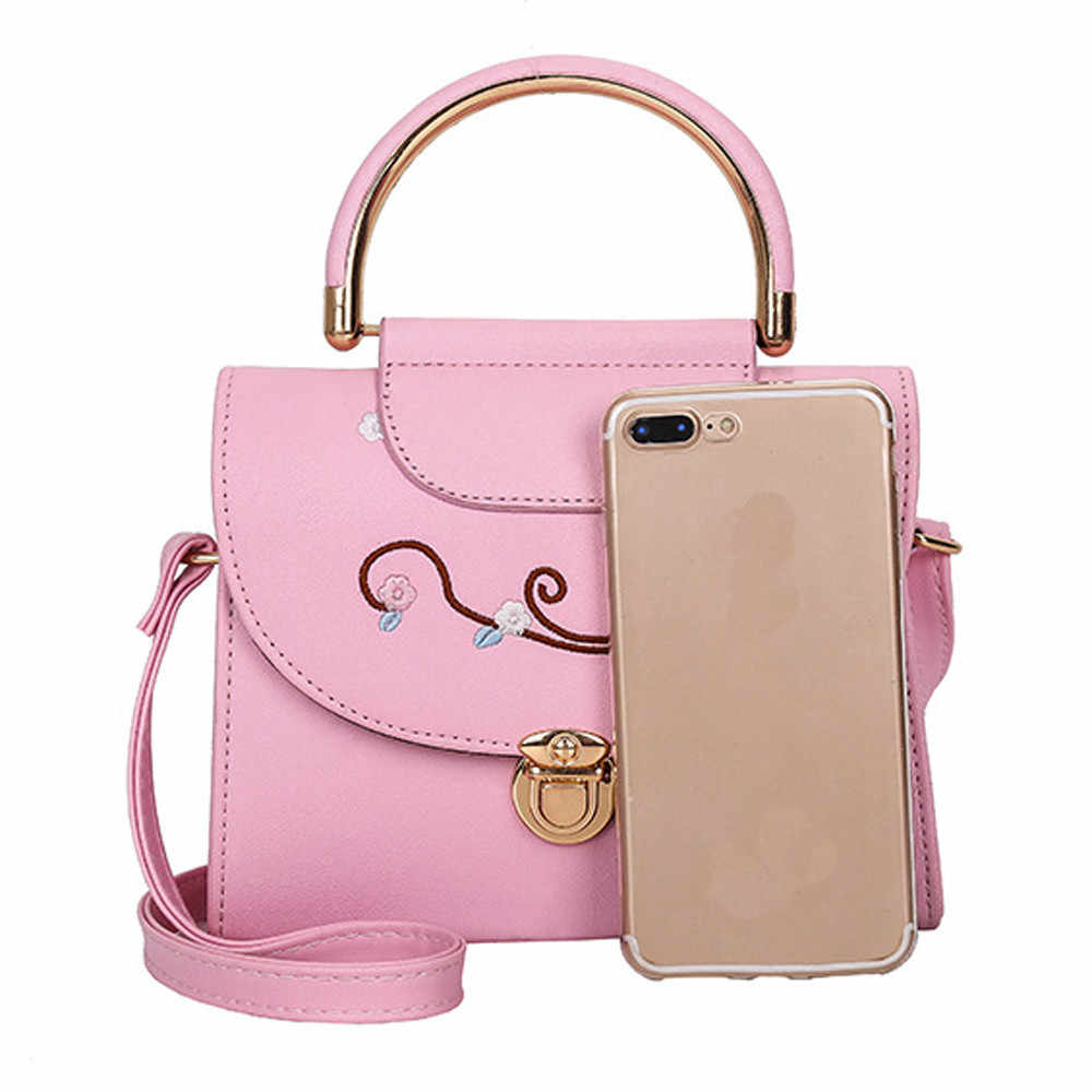 4626732e62ce ... Aelicy Brand Luxury Handbags Women Bags Designer Embroidered Floral Tote  Bags For Women High Quality PU ...