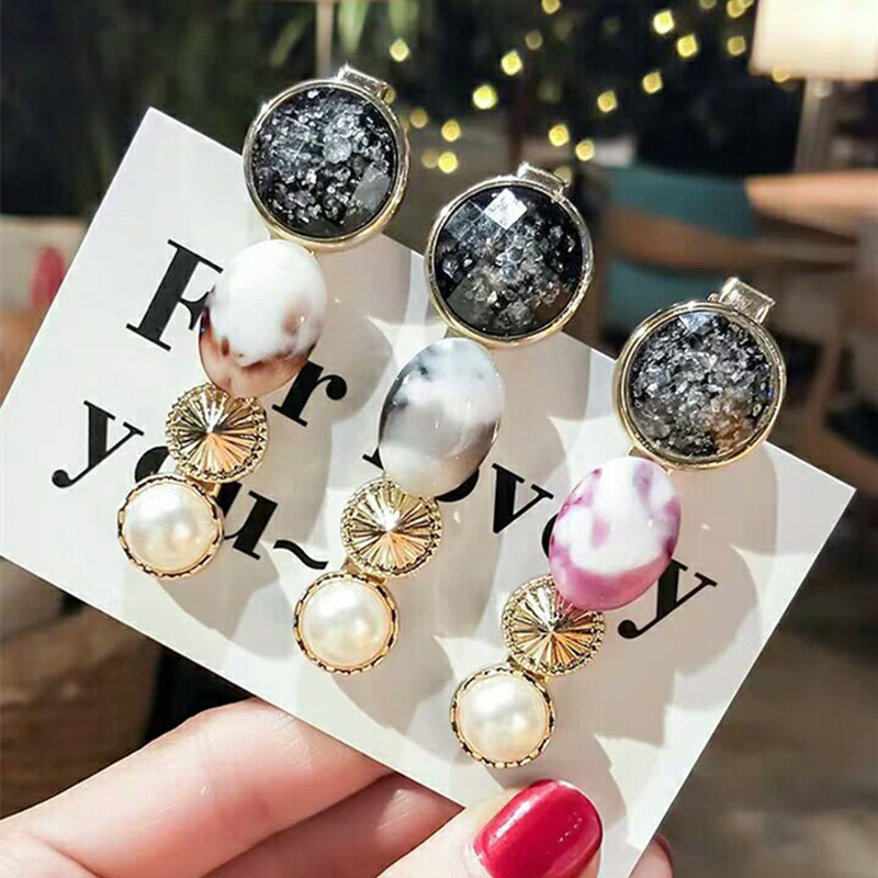 New Fashion Gem Clip Hairpin Women Girls Hair Clips Clamp Pin Barrette Accessories for Girl Hairgrip Hairclip Headdress   Headwear
