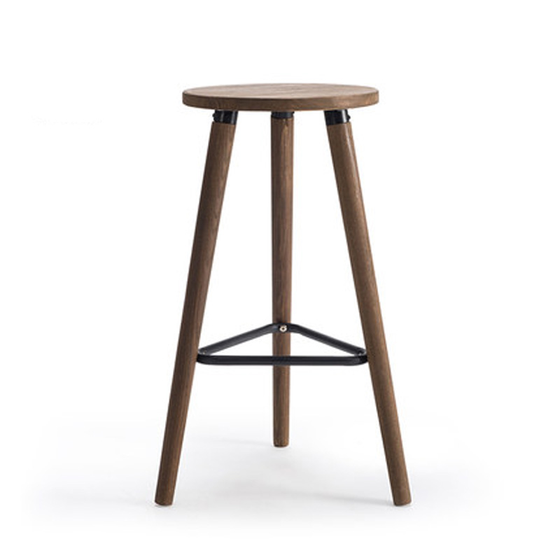 Wooden bar stools industrial decor wood furniture Waiting stool Living room furniture bar chairs performing stool Guitar stool wooden round high bar stools home bar chairs coffee mobile phone stool bar stools