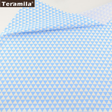 New Cotton Twill Fabric Light BlueTriangle Soft Quilting Cotton Fabric TERAMILA Twill Tecido Home Textile baby Bedding
