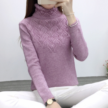 2020 Spring Lcybhe Long-sleeved  Women's turtleneck Pullover women sweat female turtleneck sweater turtleneck husky turtleneck