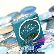 46 pcs/ box Merry Christmas mini paper sticker decoration DIY diary scrapbooking seal kawaii stationery