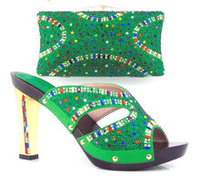 Item No DF16 102 GREEN Lady sl Matching font b Shoes b font And Bags Set