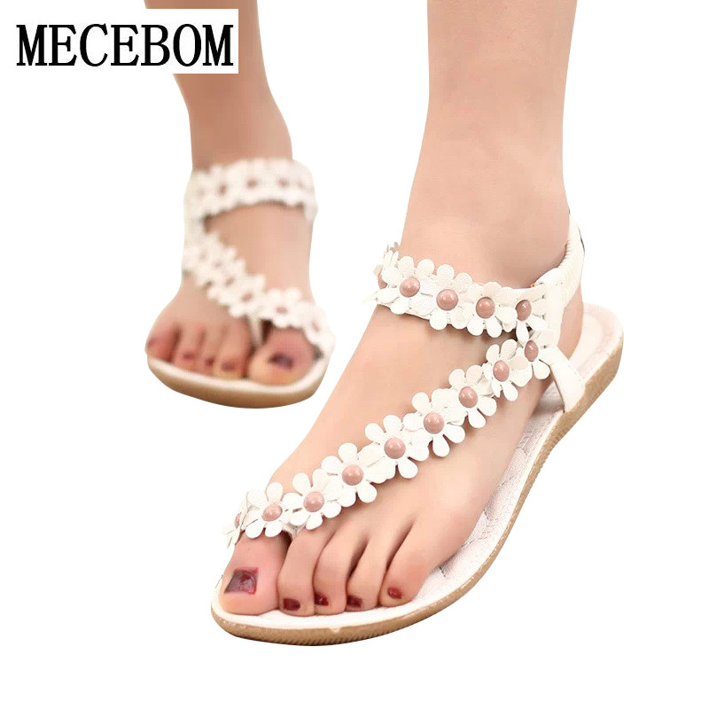 Women Platform Wedge Sandals 2017 Summer Leisure Platform Sandals Comfortable Woman Shoes Size 35-39 Fashion Sweet Beaded MD669 phyanic 2017 gladiator sandals gold silver shoes woman summer platform wedges glitters creepers casual women shoes phy3323