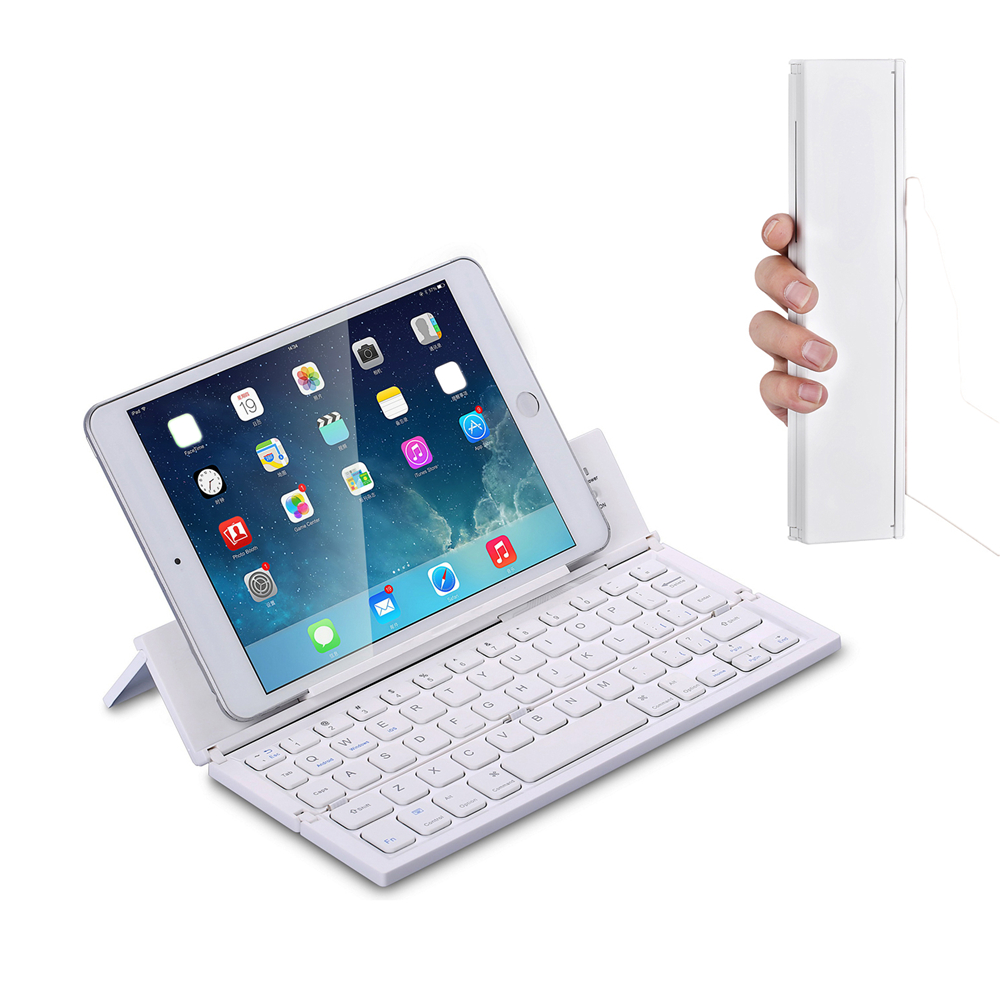 Bluetooth Wireless Keyboard for Tablets IOS Andriod Ipad Smart phone Foldable Keyboard Soft Slim Ultra Keyboard цена
