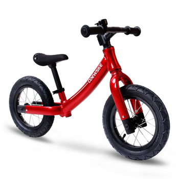Coewske 12 Inch Aluminum Balance Bike Toddler No Pedals For 2 – 6 Year Old - Red, Blue, Black
