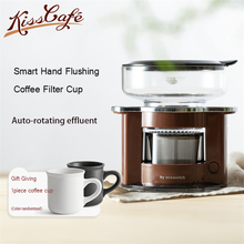 Automatic Portable Hand Coffee Machine Free Filter Paper Electric Rotary Extraction Outdoors Pot