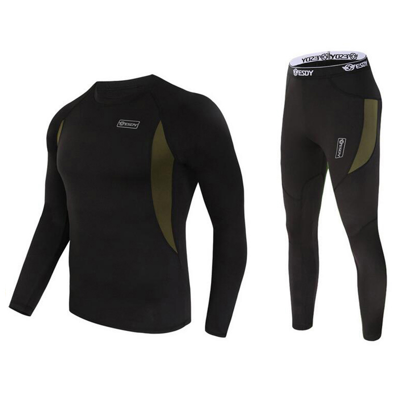 Men Winter Cycling Base Layers Quick Dry and Warm Thermal Underwear Men Riding/Climbing/Cycling/Skiing