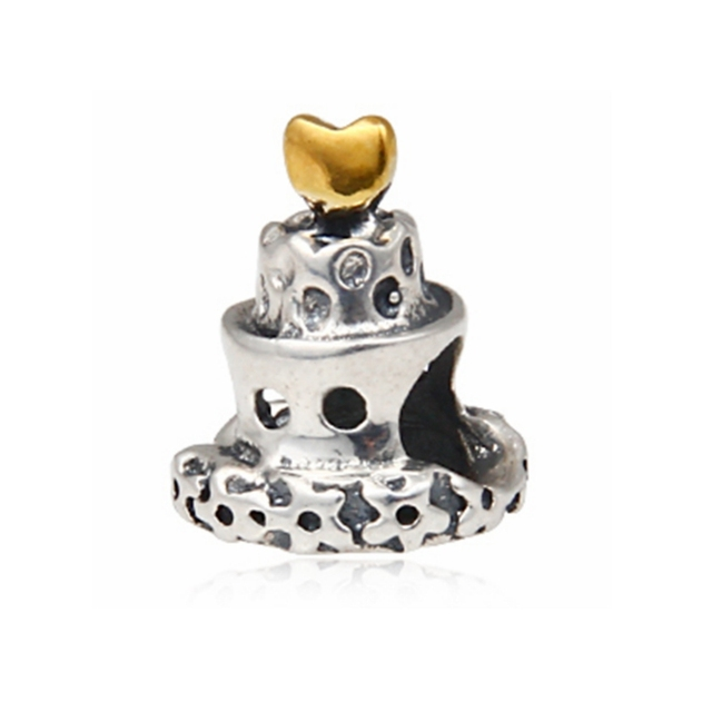 Celebration Birthday Or Wedding Cake Charm Bead Original 100