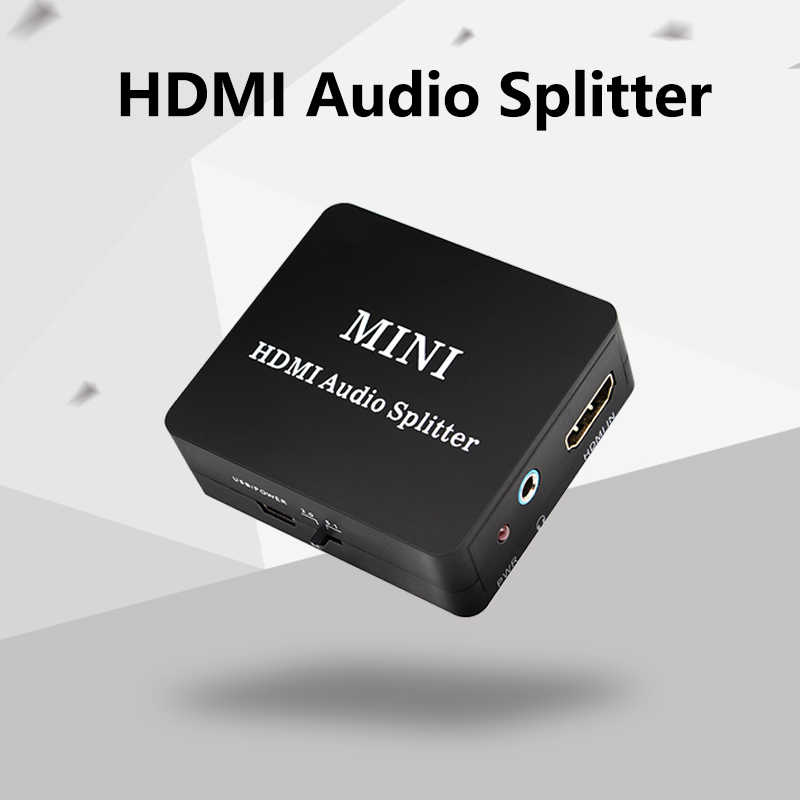 HDMI Ke HDMI + Audio Splitter Decoder HDMI HDMI SPDIF Coaxial 3.5 Mm Headphone dengan Kabel Micro USB untuk DVD TV