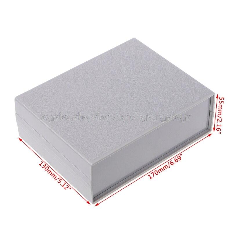 Plastic Electronic Project Box Enclosure Instrument Shell Case DIY 130x170x55MM JUL04Plastic Electronic Project Box Enclosure Instrument Shell Case DIY 130x170x55MM JUL04