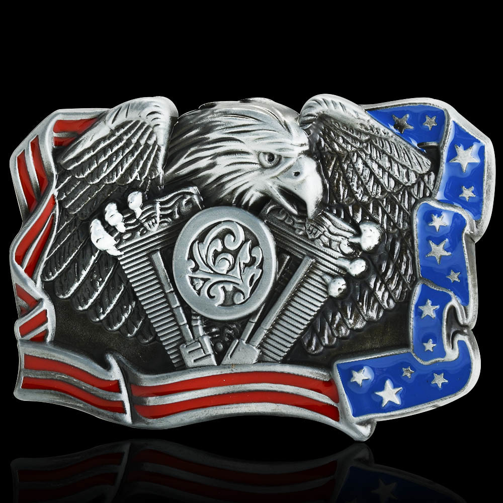 Hot Sale Eagle National Flag Belt Buckle Brand New Western Design With Good Plating Suitable For 4cm Width Belt Drop Shipping