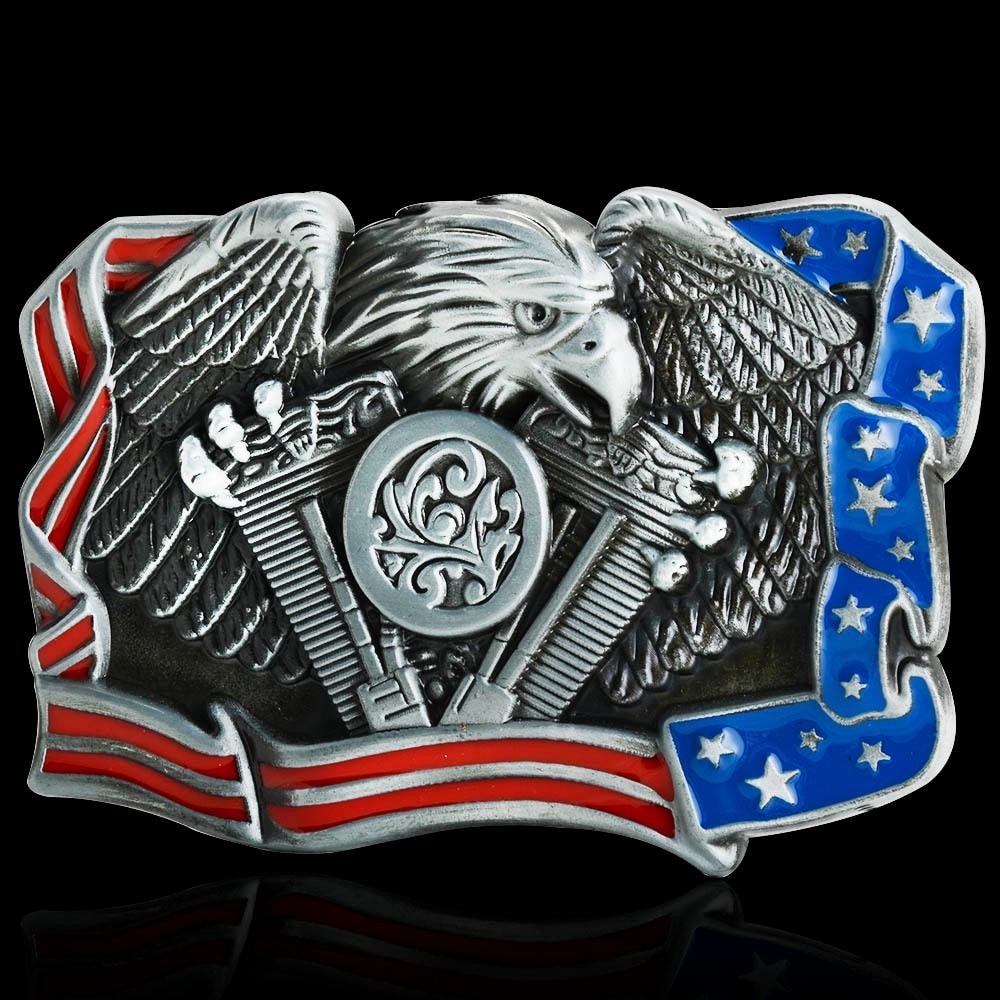 Hot Sale Eagle National Flag Belt Buckle Brand New Western Design With Good Plating Suitable For 4cm Width Belt Drop Shipping