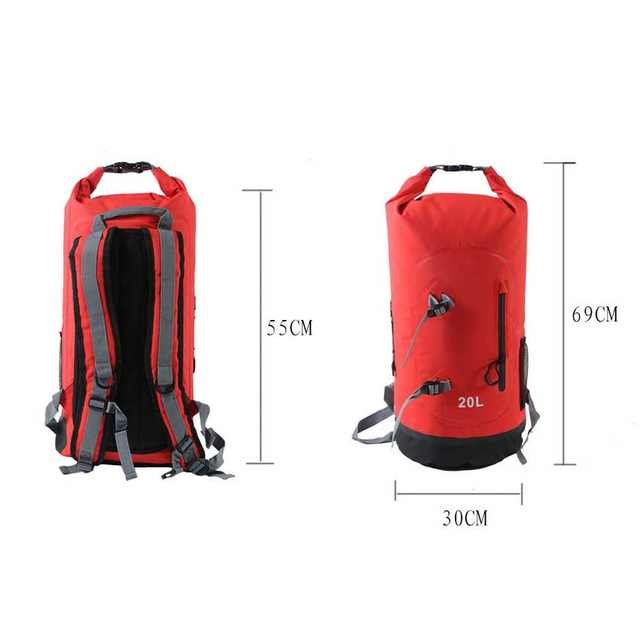 972bd2fe55 20L High Quality Outdoor Waterproof Dry Bags Floating Fishing Rafting  Hiking Swimming Upstream Climbing Backpack Bag