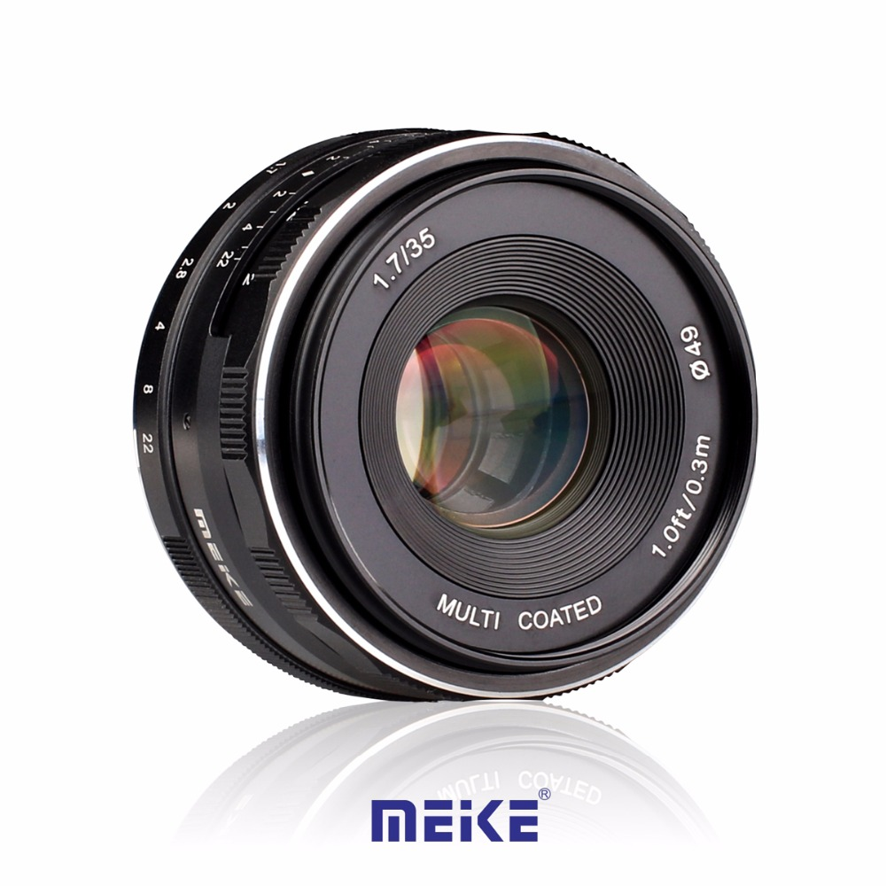 Meike MK-S--35-1.7 35mm f1.7 Large Aperture Manual Focus lens APS-C for Sony NEX 3/3N/5/5T/5R/5N/NEX 6/7/a5000/a5100/a6000/a6300 black sliver 25mm f 1 8 hd mc manual focus lens for sony e nex mount camera a7 a7r a7s a7rii a7sii a6300 a6000 nex 7