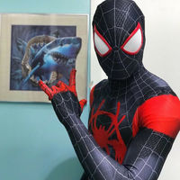Miles Morales Spider Man Costume 3D Print Into the Spider Verse Superhero Suit For halloween cosplay bodysuit