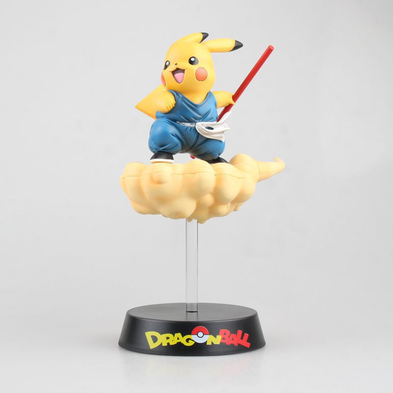 Huong Anime Figure 10CM Pikachu Cos Son GoKu Cartoon PVC Action Figure Collectible Model ToyHuong Anime Figure 10CM Pikachu Cos Son GoKu Cartoon PVC Action Figure Collectible Model Toy