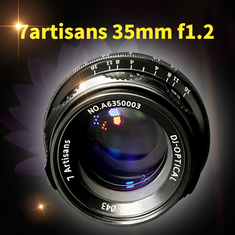 7artisans 35mm F1.2 Prime Lens for Sony E-mount / for Canon EOS-M / for Fuji XF APS-C Mirrorless Cameras Manual Focus Fixed Lens
