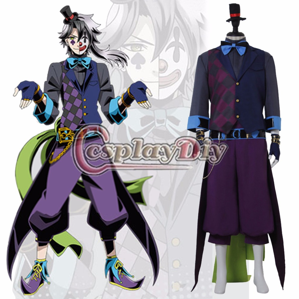 Custom Made  Divine Gate Cosplay Costume Loki Joker Cosplay Clothing Costume Hot Anime Halloween Costume D0608