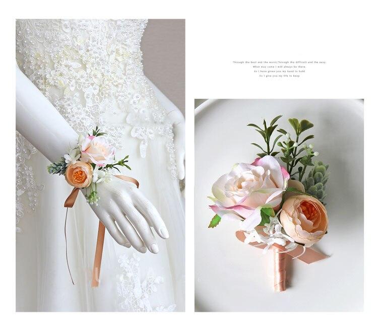 wedding boutonniere wrist corsage marriage  (25)