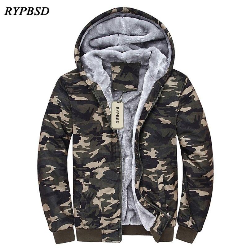 Fashion Cool Winter Men Women Hoodies Tracksuits Warm Thick Camouflage Hoodies Coat Winter Velvet Cardigan Sweatshirts 4XL