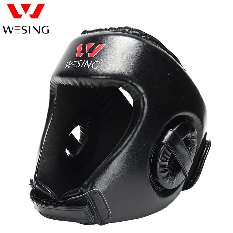Prix pour Boxe protection de la tête wesing sanda Coiffures de formation de boxe Tête Garde Formation Casque Coup Protection Boxing Gear