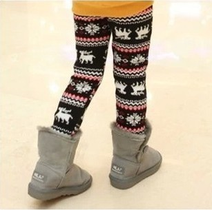 f11bd876c New 2014 Winter Child Girls Warm Fleece Leggings Children Cartoon Christmas  Snowflake Leggings Kids Leggings-in Pants from Mother & Kids on  Aliexpress.com ...