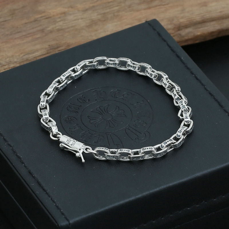 Wholesale silver jewelry manufacturers S925 men's and women's Fashion Silver Star Silver Bracelet ch South Korea