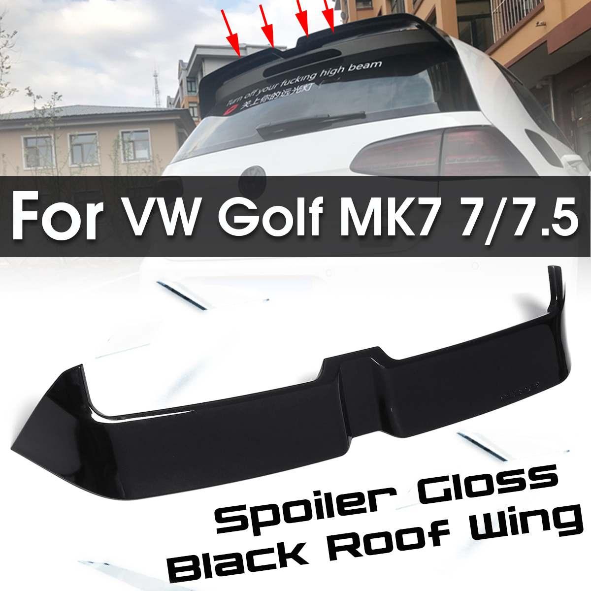 Pour MK7 fibre de carbone style voiture/ABS noir brillant aileron arrière pour Volkswagen pour VW Golf MK7 7/7. 5