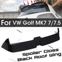 for MK7 Car styling Carbon Fiber / ABS Gloss Black Rear Wing Spoiler For Volkswagen for VW Golf MK7 7/7.5