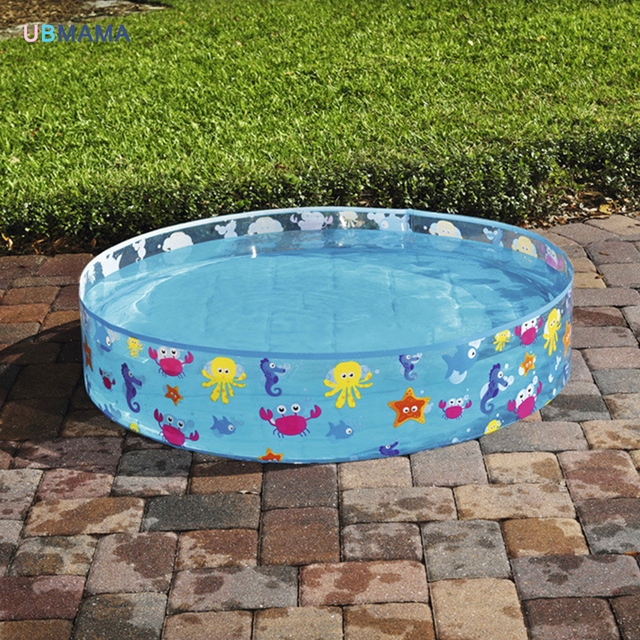 Free inflatable tarpaulin support round pool no air pump for Plastik pool rund