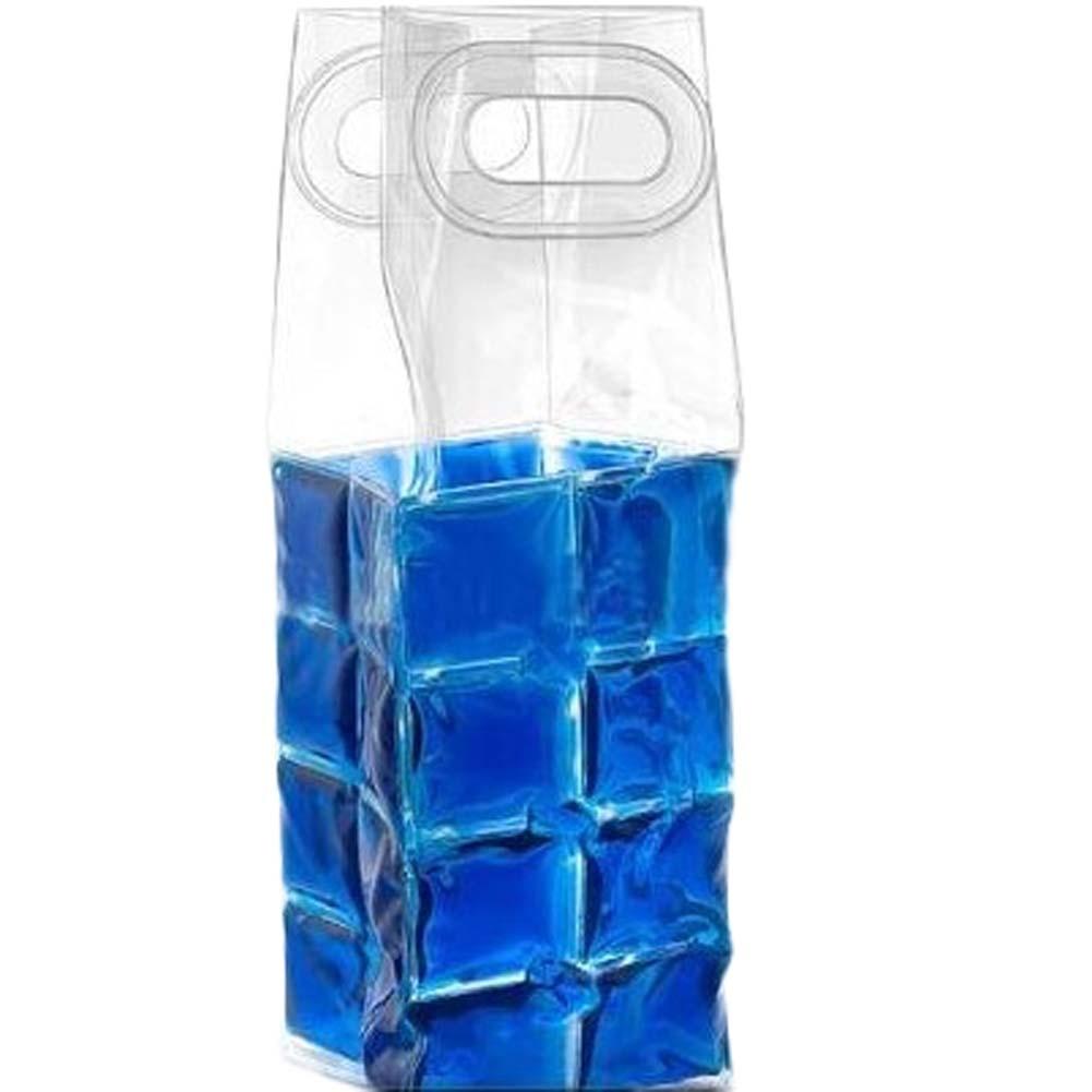 Rapid Ice Wine Cooler PVC Beer Cooler Bag Outdoors Ice Gel Bag Picnic CoolSacks Wine Cooler Chillers Frozen Bag Bottle</fo
