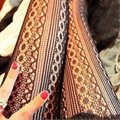 Women Sexy Rose Pattern Floral Tights Lady Fishnet Stockings Nylon Pantyhose Tight