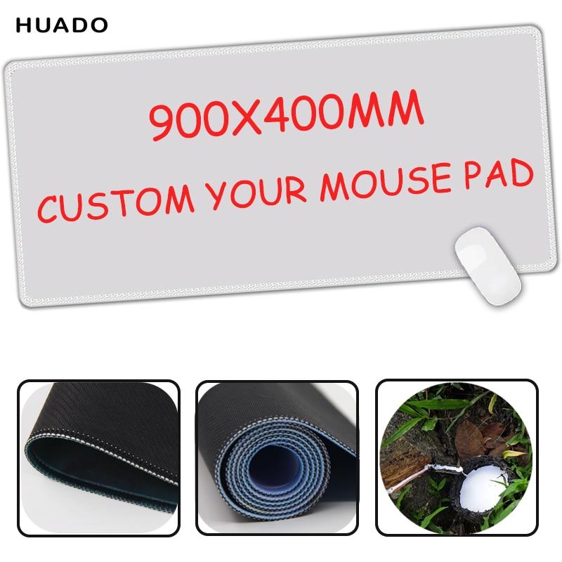 Custom Large Game Mouse Pad 900 * 400 mouse mat berkualiti tinggi gambar DIY dengan mengunci tepi