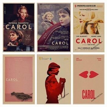 Carol retro Poster Retro Kraft Paper Bar Cafe Home Decor Painting Wall Sticker Чокер
