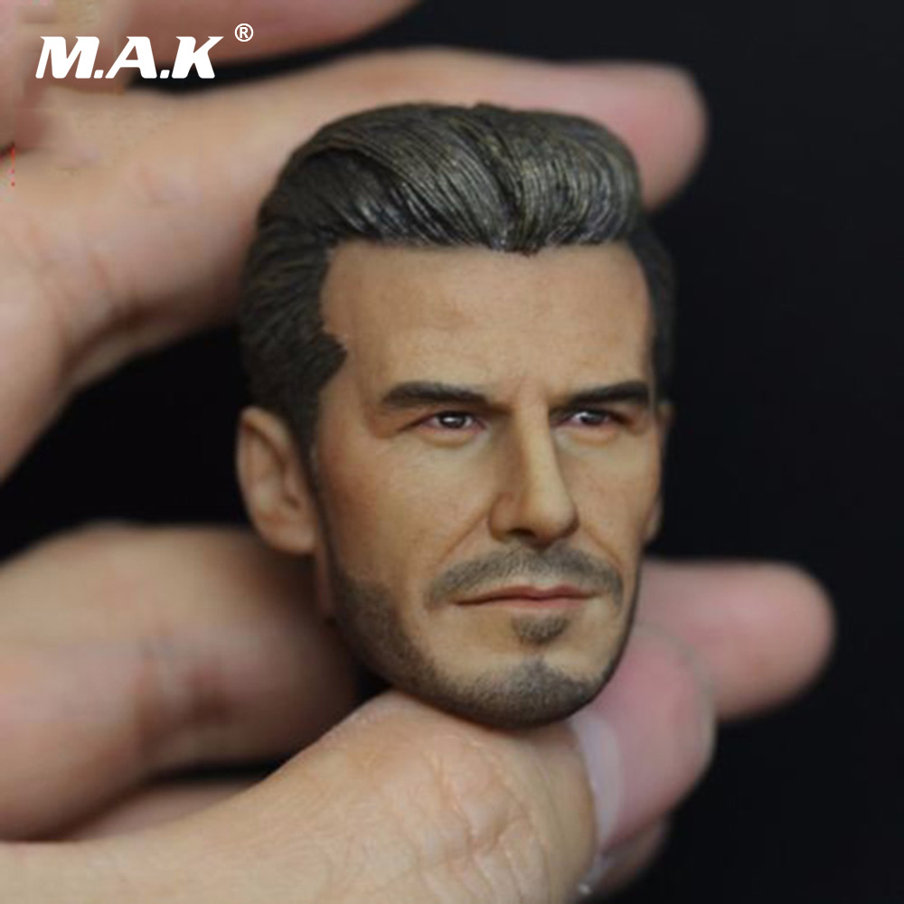 1:6 Scale Soccer Star David Beckham Head Sculpt Model with Smile Expression For 12 Male Action Figure 1 6 head sculpt male figure doll guardians of the galaxy star lord head carving 1 6 action figure acccessories juguete toys gift