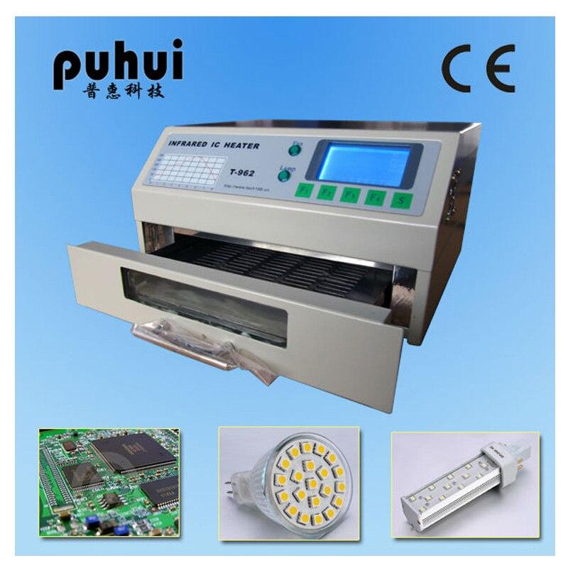 Puhui T962 110V / 220V Reflow Equipment T-962 Infrared Reflow Oven Furnace IC Heater BGA Rework Station