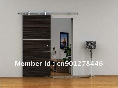 European Modern Sliding Barn Door Hardware For Wood Top Hanger Style