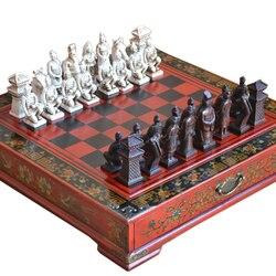 Классические китайские терракотовые воины деревянная шахматная доска головоломки мультфильм шахматы с героями мультфильмов настольная и...