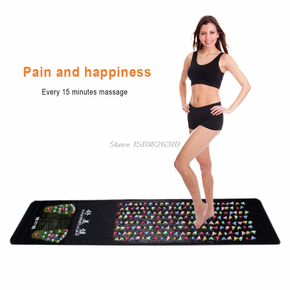 Health Care Product Foot Massage Mat Walk Cobblestone Acupoint Massager #Y207E# Hot Sale 1 pair health care foot acupoint massager flat slippers for male female
