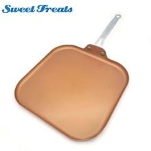 Sweettreats Kupfer Pan 11-zoll Nonstick Kupfer Keramikbeschichtung Pfanne mit Edelstahl Griff, Spülmaschinenfest Ofenfest PTFE