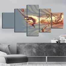 5 Piece HD Abstract Art Butterfly Picture The Last of Us Video Game Poster Wall Sticker Canvas Paintings for Home Decor