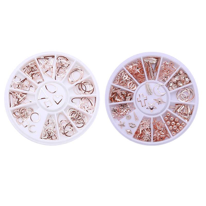 Piedras de diamantes de imitación de colores mezclados, cuentas irregulares de diamantes de imitación de Color AB para decoración de uñas, accesorios de cristales